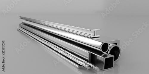 Fotografia, Obraz  Metal construction material.