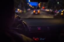 Bokeh Lights From Traffic On N...