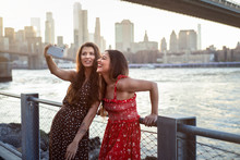 Tourists Taking Selfie In New ...