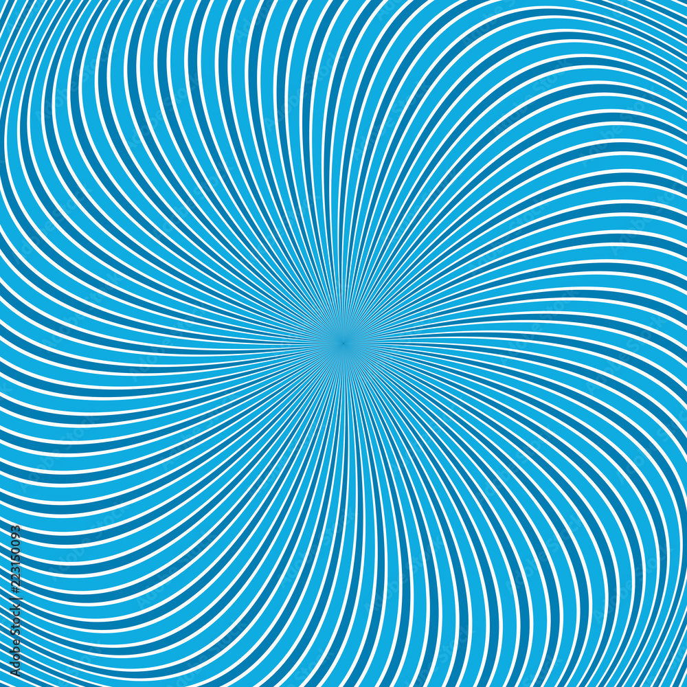 Blue Abstract Geometric Twisting Ray Background Vector
