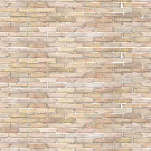 Watercolor Seamless Pattern Of White Brick Wall