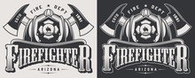 Vintage Firefighting Emblems