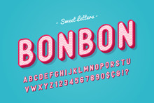 Vector Sweet Candy Font Design, Alphabet, Typeface, Letters And