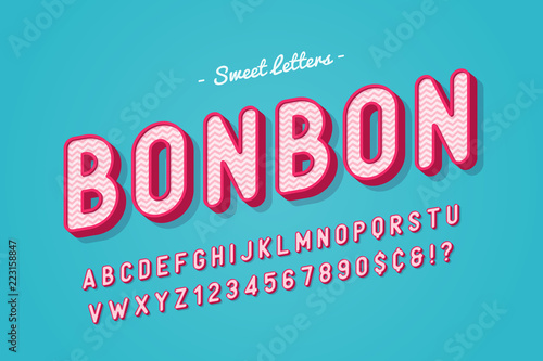 Vector sweet candy font design, alphabet, typeface, letters and Fototapete