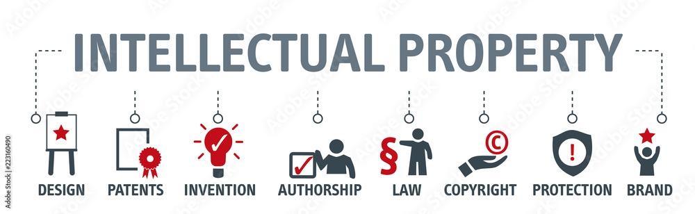 Fototapeta Intellectual Property concept vector illustration