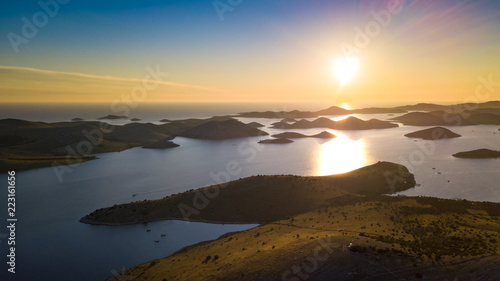 Photo  Kornati islands on sunset