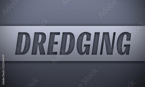 Fotografia, Obraz  dredging - word on silver background