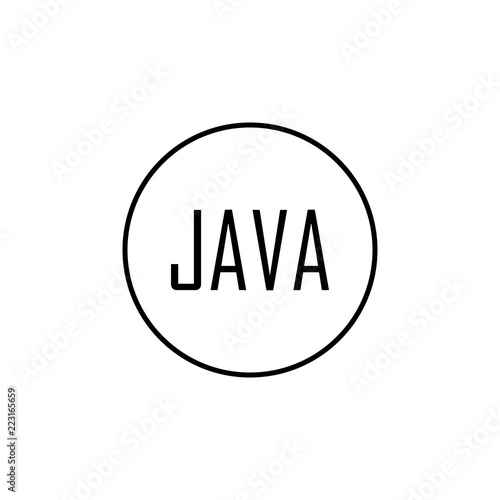 java icon  Element of online and web for mobile concept and
