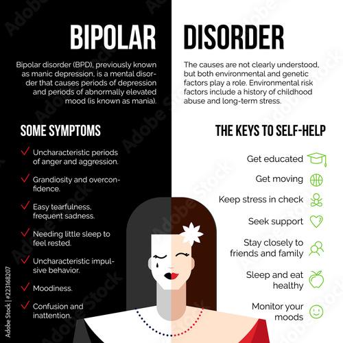 Mental bipolar disorder Canvas Print