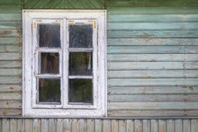 The Old Window Of Old Wooden H...