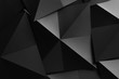 Black geometric shapes, abstract background
