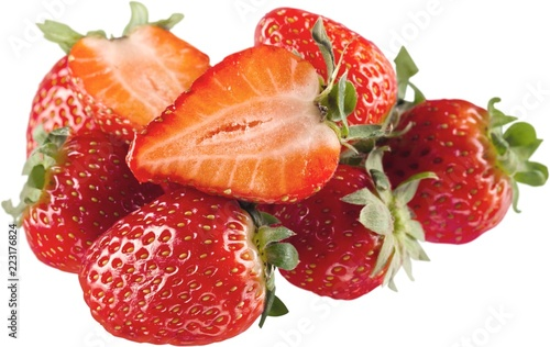 Pile of Fresh Strawberries - Isolated