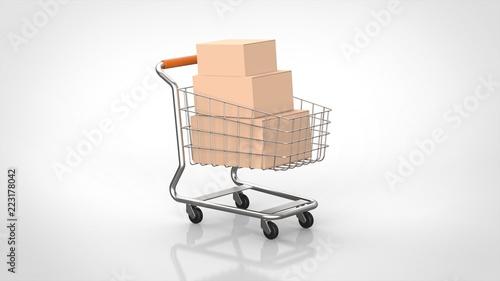 Cuadros en Lienzo ショッピングカートと商品