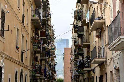 Barcelona バルセロナ 下町の風景 Canvas Print
