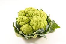 Green Cauliflower On White Background