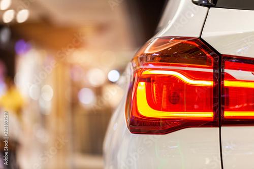 Obraz na plátně  Rayong,Thailand - September 11, 2018: Rear light of BMW ,showed