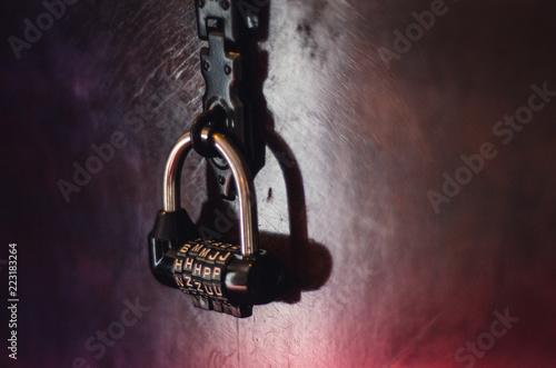 Combination lock in a Quest Escape Room Poster Mural XXL