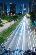 Singapore City Skyline Illumin...