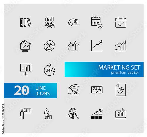 Fotografia  Marketing icons