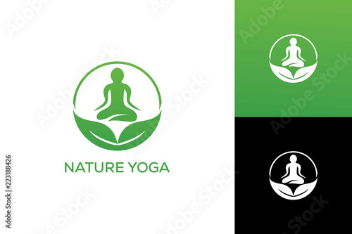 NATURE YOGA LOGO DESIGN Fototapet
