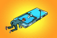 Man Trapped In A Mousetrap Smartphone