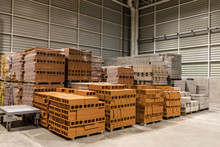 Warehouse With Materials For Construction