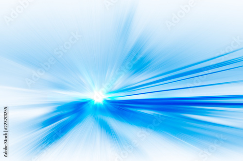 Photo abstract high speed movement toward to the future at fast performance background concept