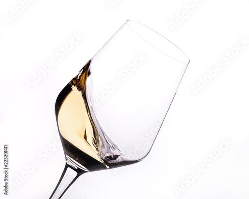 Copa de vino blanco Canvas Print
