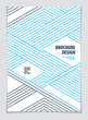 Futuristic minimal brochure graphic design template. Vector geometric pattern abstract background. Design template for flyer, booklet, greeting card, invitation and advertising. A4 print format.