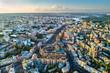 Leinwanddruck Bild - Aerial view of Besarabka and Khreshchatyk, the main street of Kiev