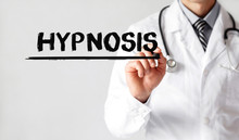 Doctor Writing Word HYPNOSIS With Marker, Medical Concept