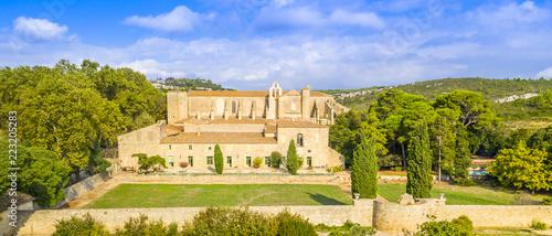 Fotomural Abbaye de Valmagne dans l'Hérault en Occitanie, France