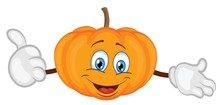 Cute Pumpkin Character Cartoon