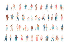 Crowd. Different People Vector...