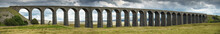 Panorama Of Ribblehead Viaduct Carrying The Settle To Carlisle Railway Line Across The Ribble Valley, Yorkshire Dales,UK.