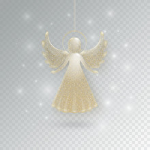 Christmas Angels With Wings And Nimbus