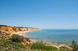 The beach Praia da Falesia in Algarve of south Portugal. With the famous sandstone rocks.