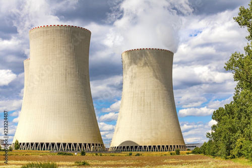 Poster Stad gebouw Nuclear power plant Temelin, Czech Republic