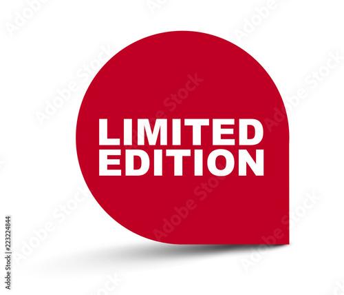 Fotografie, Obraz red vector banner limited edition