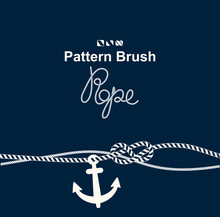 Vector Brush Old Sea Rope