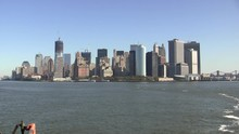 NYC Skyline As Seen From The Staten Island Ferry 2011 HD