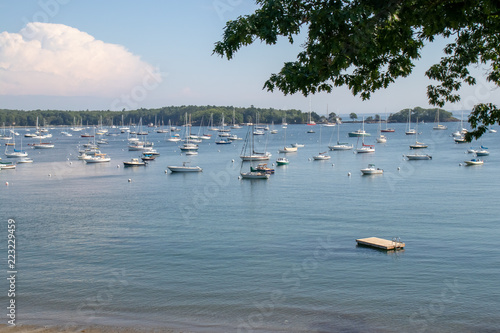 Deurstickers Australië Picturesque view of Maine port on a relaxing, calm summer day