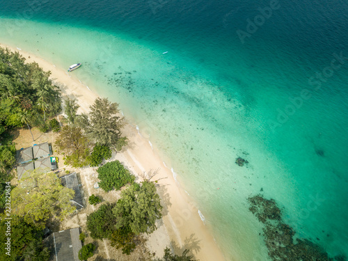 Foto op Aluminium Luchtfoto Aerial view of paradise Ko Kradan