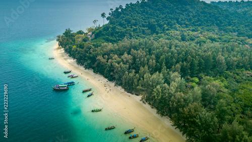Aerial view of paradise Ko Kradan