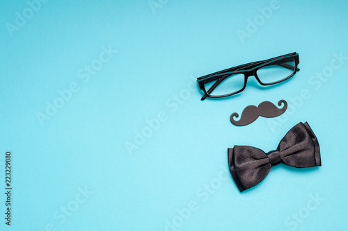 Photo Paper moustaches for men fathers dad concept
