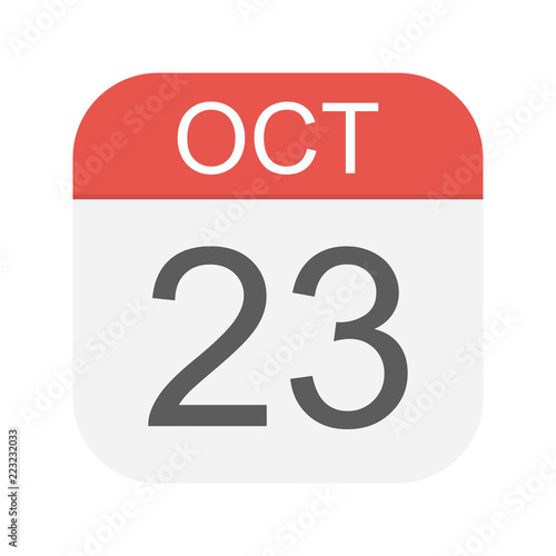 Papel de parede  October 23 - Calendar Icon