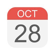 October 28 - Calendar Icon