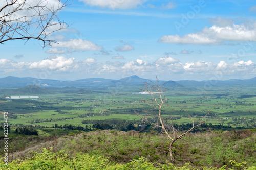 Foto op Plexiglas Olijf Naivasha township seen from Eburru Hills, Naivasha, Kenya