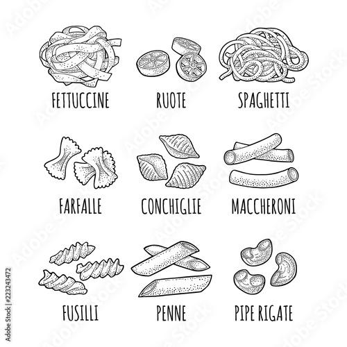 Fotomural Set pasta
