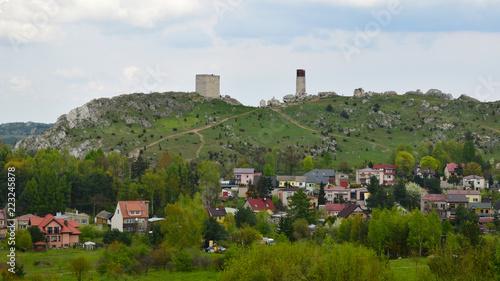 Fototapeta Ruiny zamku w Olsztynie obraz